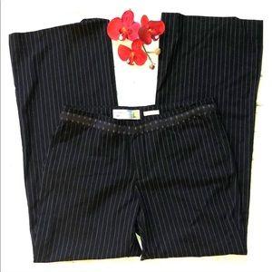 Old Navy Low Waist stretch black pinstripe pants